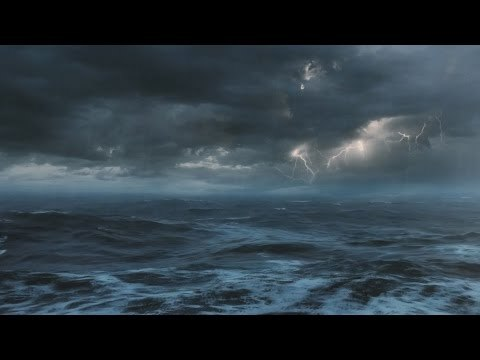 ⚡️ Thunderstorm At Sea Sounds For Sleeping, Relaxing