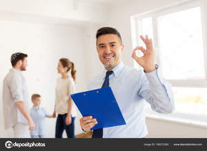 Depositphotos 165212362 stock photo realtor with clipboard and family