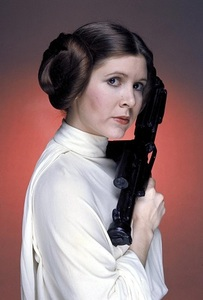 Princess leia's characteristic hairstyle